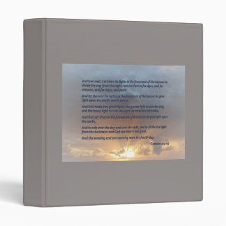 Genesis 1:14-19 ... Let there be lights Binder