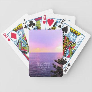 Genesis 1:1 BEAUTIFUL BIBLE VERSE Bicycle Playing Cards