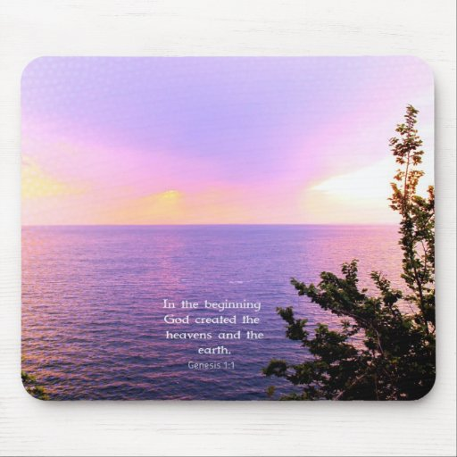 Genesis 1:1 BEAUTIFUL BIBLE VERSE Mouse Pads