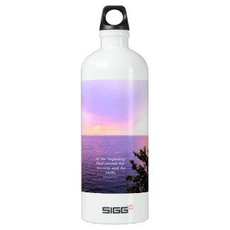 Genesis 1:1 BEAUTIFUL BIBLE VERSE SIGG Traveler 1.0L Water Bottle