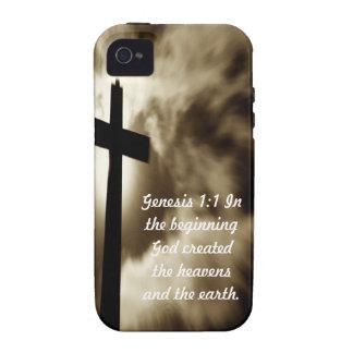 Genesis 1:1 Case-Mate Tough™ iPhone 4 Cases
