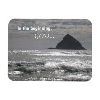 Genesis 1:1  In the beginning, God Magnet