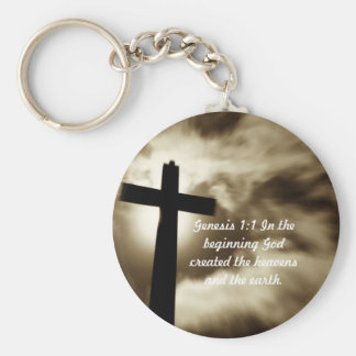 Genesis 1:1 Key Chain