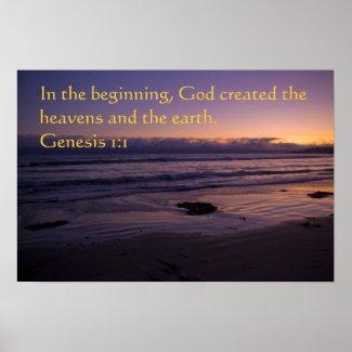 Genesis 1:1 poster print