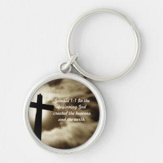 Genesis 1:1 Round Key Chain
