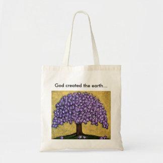 Genesis 1:1 tote bag