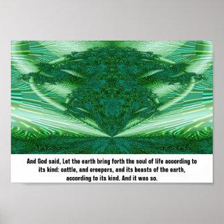 Genesis 1:24 poster