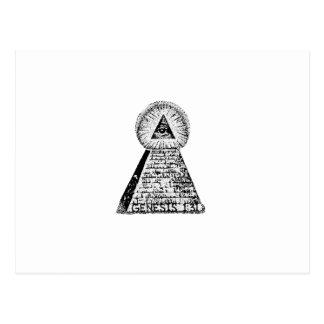 Genesis 1:31 Pyramid and eye Postcard