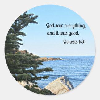 Genesis 1:31 stickers