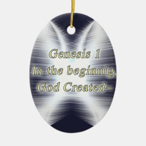 Génesis: 1 ORNAMET OVAL - DIOS DEL PRINCIPIO CREAD Ornamentos De Reyes Magos