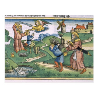 Genesis 21 1-14 Abraham's offering up of Isaac, fr Postcard