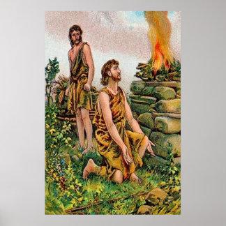 Génesis 4 poster de Caín y de Abel