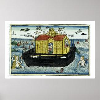 Genesis 6 11-24 Noah s Ark from the Nuremberg Bib Posters