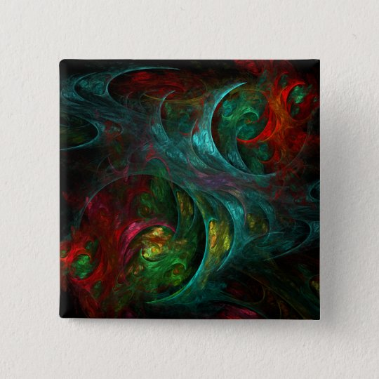 Genesis Abstract Art Button (square)