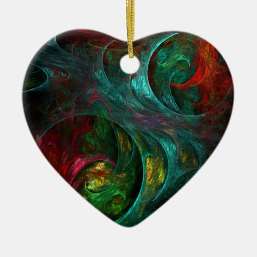 Genesis Abstract Art Heart Ornament