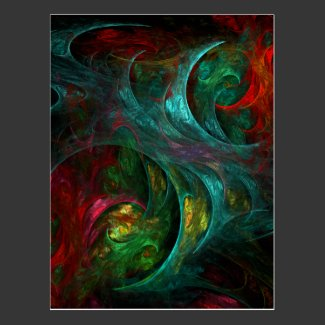 Genesis Abstract Art Postcard
