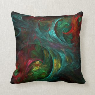 Genesis Abstract Art Throw Pillow