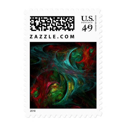 Genesis Abstract Postage Stamp