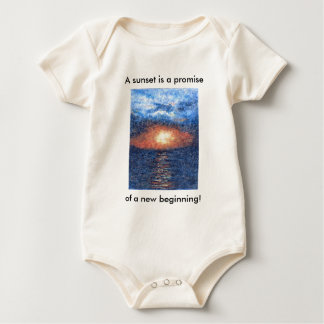 Genesis Aleph Sunset Baby Baby Bodysuit