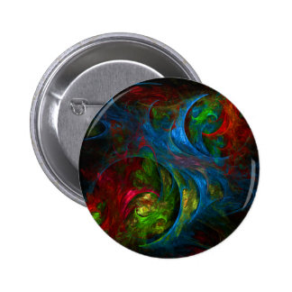 Genesis Blue Abstract Art Button (round)