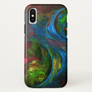 Genesis Blue Abstract Art Case-Mate iPhone Case