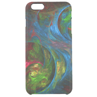 Genesis Blue Abstract Art Clear iPhone 6 Plus Case