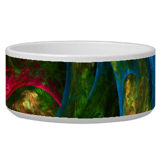 Genesis Blue Abstract Art Dog Bowl