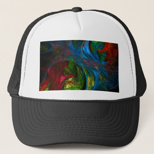 Genesis Blue Abstract Art Hat