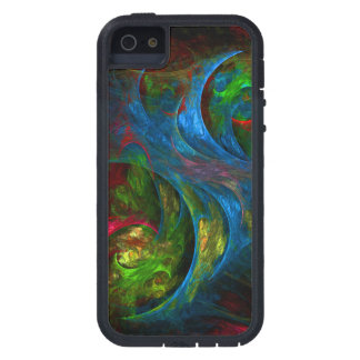 Genesis Blue Abstract Art iPhone SE/5/5s Case