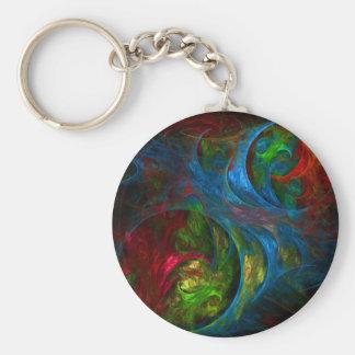 Genesis Blue Abstract Art Keychain