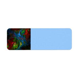 Genesis Blue Abstract Art Return Address Label