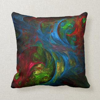 Genesis Blue Abstract Art Throw Pillow