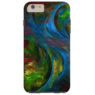 Genesis Blue Abstract Art Tough iPhone 6 Plus Case