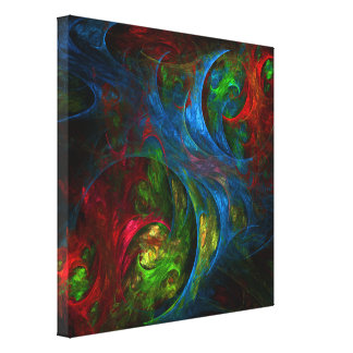 Genesis Blue Abstract Art Wrapped Canvas Print