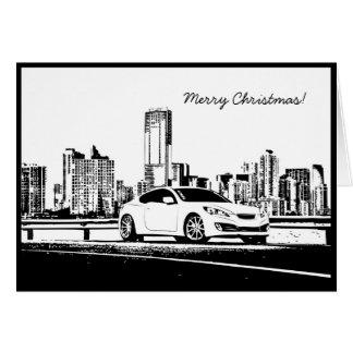 Genesis Coupe Car themed Christmas Hoiday Card
