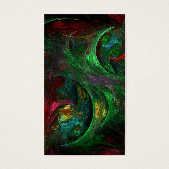 Genesis Green Abstract Art Business Card