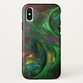 Genesis Green Abstract Art Case-Mate iPhone Case