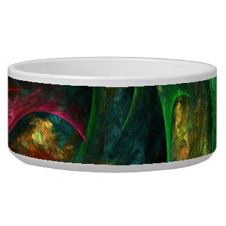 Genesis Green Abstract Art Dog Bowl
