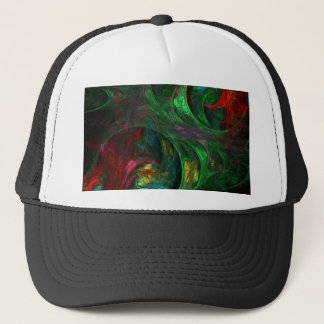 Genesis Green Abstract Art Hat