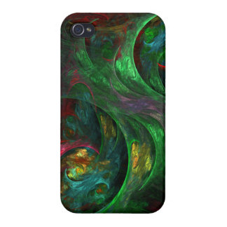 Genesis Green Abstract Art iPhone 4/4S Case