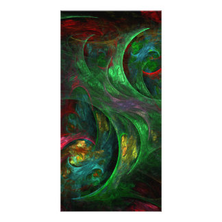 Genesis Green Abstract Art Photo Card