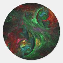 genesis, abstract, art, round, sticker, Sticker with custom graphic design
