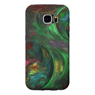 Genesis Green Abstract Art Samsung Galaxy S6 Case