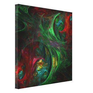 Genesis Green Abstract Art Wrapped Canvas Print
