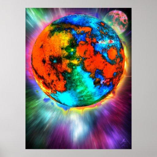 Génesis lunar poster