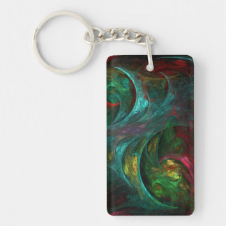 Genesis Nova Abstract Art Double-Sided Rectangular Acrylic Keychain