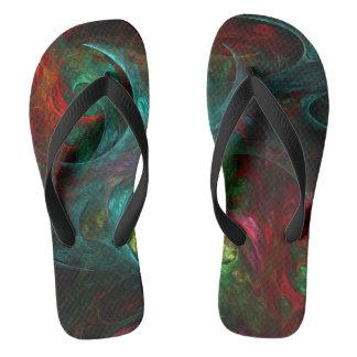 Genesis Nova Abstract Art Flip Flops