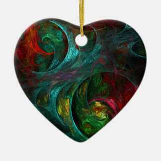Genesis Nova Abstract Art Heart Ornament