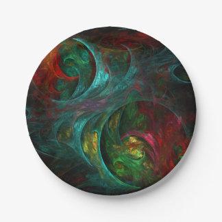 Genesis Nova Abstract Art Paper Plate