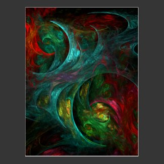 Genesis Nova Abstract Art Postcard